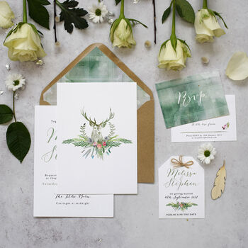 'Highland Summer' Wedding Invitations