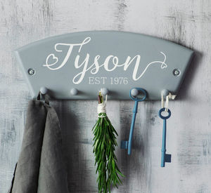 Personalised Surname Key Rack - home decorating