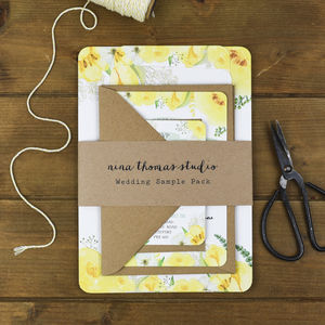 Spring Fields Wedding Stationery Sample Pack - invitations