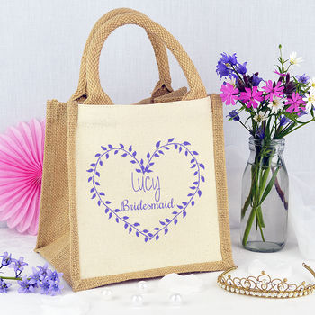 Personalised Heart 'Bridesmaid' Bag