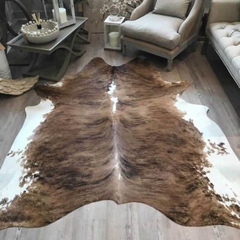 Cowhide Rug Exotic White Belly