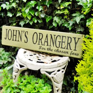 Personalised 'Rustic' House And Garden Sign