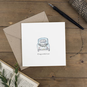 'Just Married' Square Card