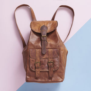 Large Leather Backpack - bags