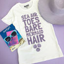 Sea Air Mermaid Hair Women's Summer Slogan T Shirt