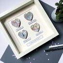 Personalised Map Hearts Story Picture | Wedding Gift