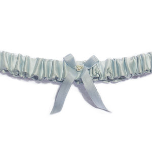 Elsa Something Blue Silk Wedding Garter - something blue