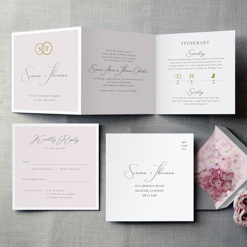 French Fancy Wedding Invitation