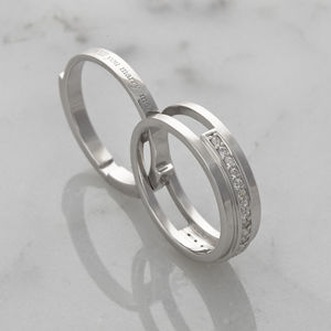 'Save The Finger' Secret Message Engagement Ring - unique engagement rings