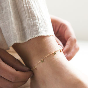 Gold Sequin Anklet