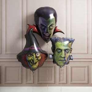 Halloween Character Foil Balloon Trio - party decorations