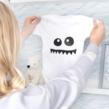 Monster Face Baby Grow