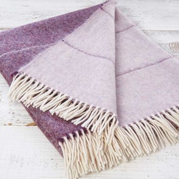 Luxury Alpaca Mix Purple Ombre Throw