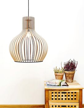 Victoria Eco Wooden Lampshade, Ceiling Light