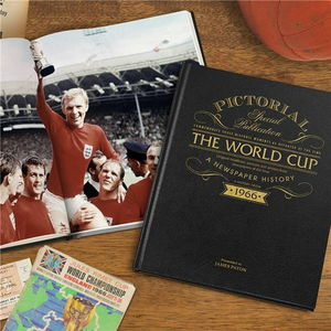 Personalised Football World Cup History Book - books