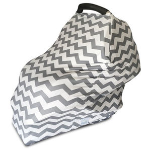 Grey Chevron Baby Seat Cover - soft furnishings & accessories