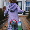 Hand Dyed Rainbow Children's Hooded Onesie
