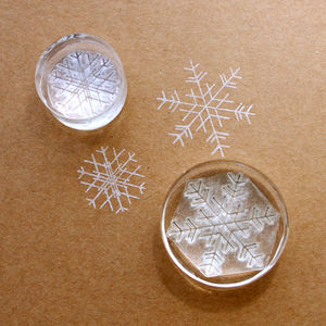 Set Of Two Snowflakes Crystal Clear Stamps