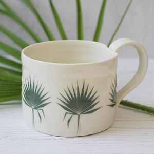 Fan Palm Leaf Mini Mug