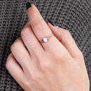 Rose Gold Sterling Silver Opal Ring