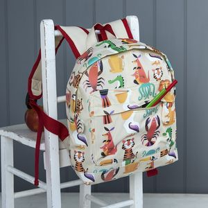 Colourful Creature Printed Mini Backpack - whatsnew