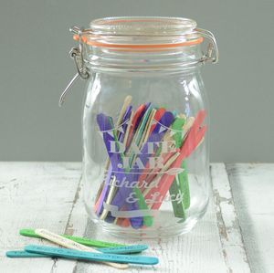 Personalised Date Night Kilner Jar