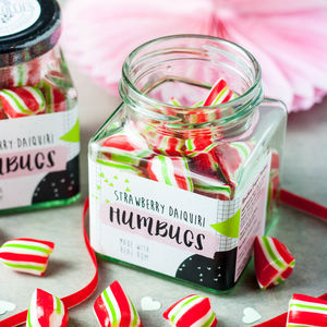 Alcoholic Strawberry Daiquiri Humbugs - sweets