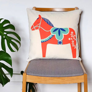 Hygge Horse Dala Cushion - nursery cushions