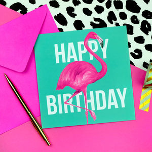 Flamingo Birthday Card - birthday cards