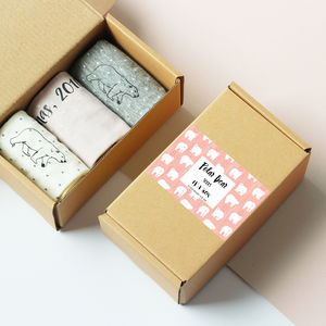 Personalised Polar Bear Sock Box