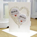 Personalised Mini Magnets Wedding Card