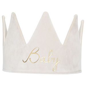 Personalised Cream Velvet Crown
