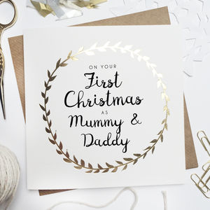 'First Christmas As Parents' Foiled Card - what's new