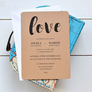 Kraft Wedding Invitation - invitations