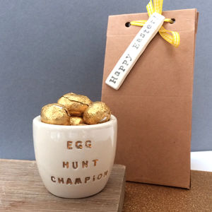 Egg Hunt Champion Metallic Egg Cup