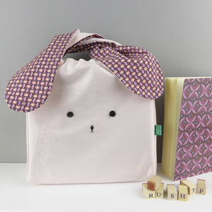 Bunny Rabbit Pastel Geometric Fabric Children Bag