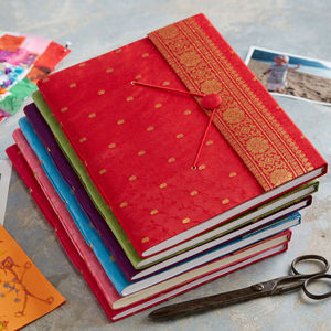 Handmade Sari Xl Photo Album - albums & guest books