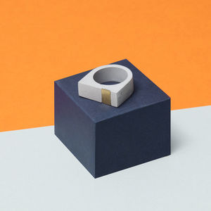 Concrete And Brass Ring
