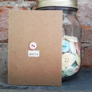 'Smile' Porcelain Button Card - shop by category
