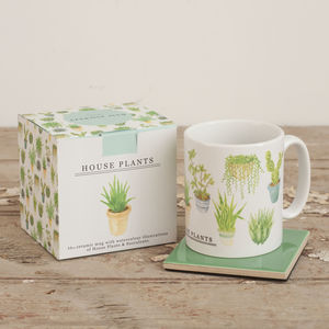 Cacti And Houseplants Illustration Mug