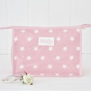 Large Personalised Wash Bag
