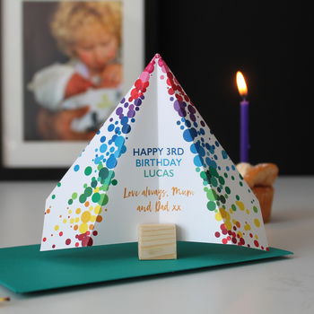 Paper Plane, Children's Birthday Card, Personalised