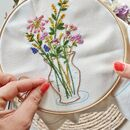 Flowers In Vase Make Your Own Embroidery Kit