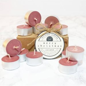 Christmas Pudding Scented Soy Tea Lights - candles & candlesticks