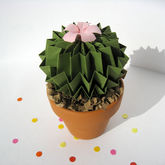 Paper Blossom Olive Green Cactus Origami Decorative Art - trends