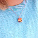 Handmade Burger Pendant Necklace