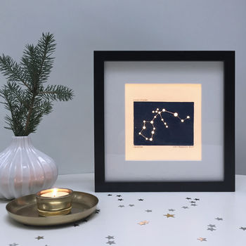 Personalised Aquarius Constellation Light Box