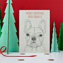 French Bulldog Christmas Card