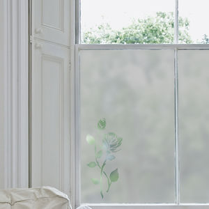 Rose Frosted Window Film - bedroom