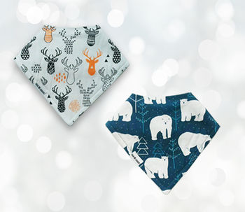 Christmas Baby Bib Gift Set Alpine